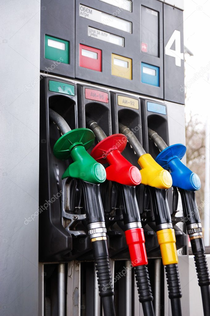 Fuel column on a petrol station — Stock Photo #2815705