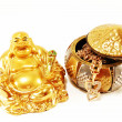 God of wealth and gold ornaments - Stock Photo