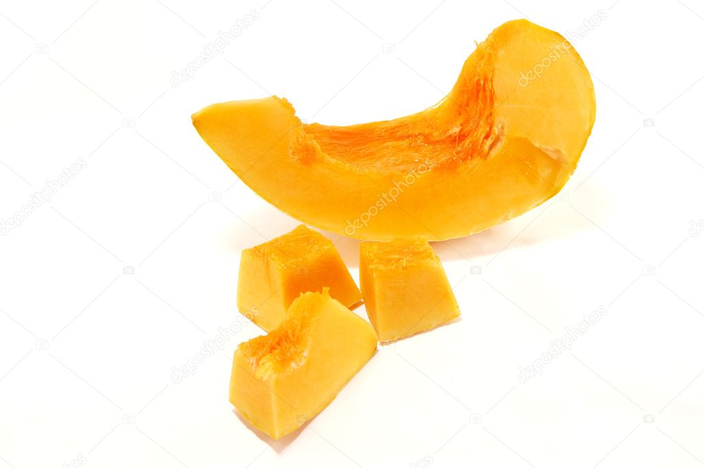 Slices of pumpkin isolated on white background — Stock Photo #2854684