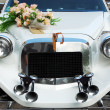 Stock Photo: Hood wedding car