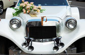 Hood wedding car — Stock Photo