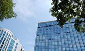对天空的高层建筑 — 图库照片