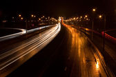 City Traffic at night — Stock Photo
