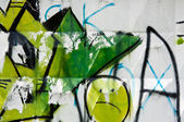 Pared con graffiti — Foto de Stock
