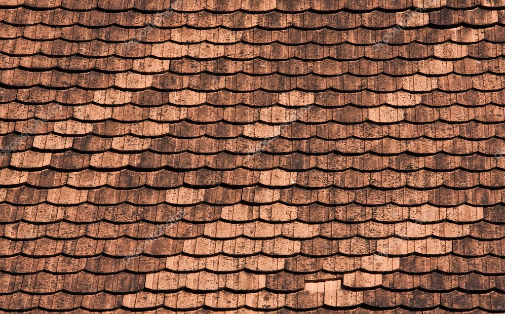 Texture of red roof tiles — Stock Photo #3444964
