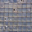 Broken Glass bricks wall — Stock Photo #3472363