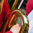 Tuba with reflection — Stock Photo
