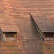Stock Photo: Old red roof tiles