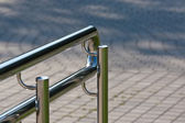 Modern steel handrail — Stock Photo