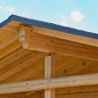 Trusses on roof of home — Stock Photo #3785440