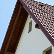 White home gable — Stock Photo
