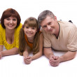 Happy family. Mother, father, daughter — Stock Photo