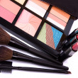 Stock Photo: Brushes to make-up and eye shadow