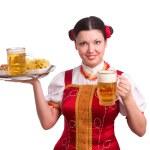 German/Bavarian woman with beer — ストック写真