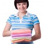 洗衣一天的时间 — 图库照片