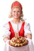 Pane e sale benvenuti — Foto Stock
