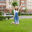 Girl is jumping — Stock Photo