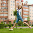 Girl is jumping — Stock Photo #3322362