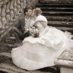 la coppia di sposi — Foto Stock