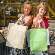 Stock Photo: Beautiful young women shopping.