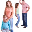 Parents swear, and children suffer. — Stockfoto #3754070