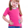 Little girl posing on front of camera — Stock Photo