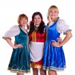 图库照片: Three German/Bavarian women