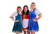 Three German/Bavarian women — Stock Photo