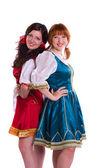 Two German/Bavarian women — Stock Photo