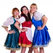 Three German/Bavarian women — 图库照片