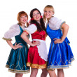 Stock Photo: Three German/Bavariwomen