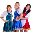 Three German/Bavarian women — Stockfoto