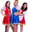 Foto Stock: Three German/Bavarian women