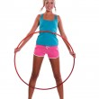 Woman with hula hoop — Stock Photo #3821444