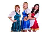 Three German/Bavarian women — Stock Photo