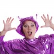 Woman in alien costume — Stock Photo #3865867