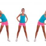Woman do exercises — Stock Photo