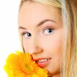 Young woman with a flower — Stock Photo #2810201