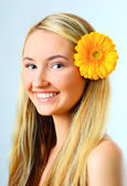 Beautiful young blond woman — Stock Photo