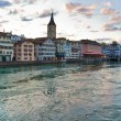 Zurich ciy in Switzerland — Stock Photo