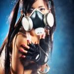 Cyber girl — Stock Photo