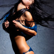 Young dancing woman - Stockfoto