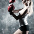 Boxer woman fashion — Stock Photo #3071560