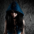 Young woman with hood on head — Stock Photo #3071654