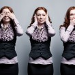 Stock Photo: See, hear, speak no evil