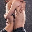Young couple kissing - Lizenzfreies Foto