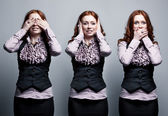 See, hear, speak no evil — Stock Photo