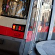 Modean tram in Vienna Austria — Stock Photo