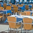 Cafe tables — Stock Photo
