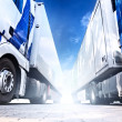 Two big trucks - Stock Photo